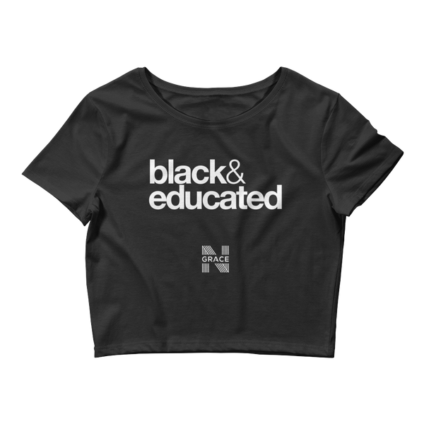 Black & Educated Crop Top