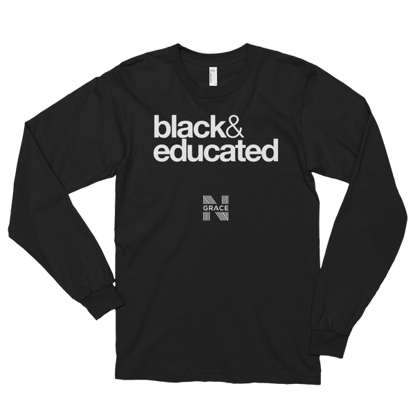 Black & Educated Long Tee