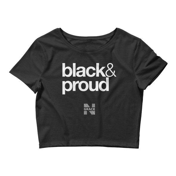 Black & Proud Crop Top