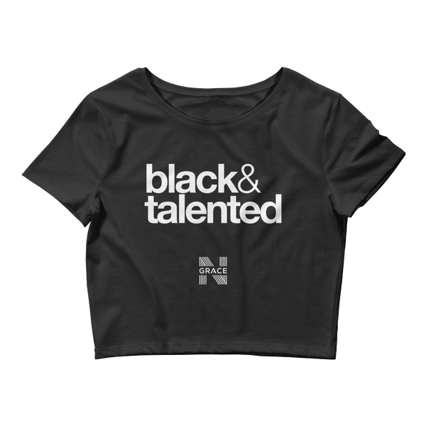 Black & Talented Crop Top
