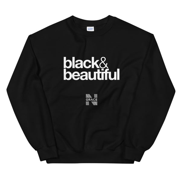 black & beautiful Crewneck
