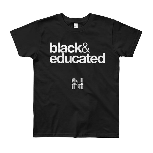 black & educated Youth Short Sleeve T-Shirt