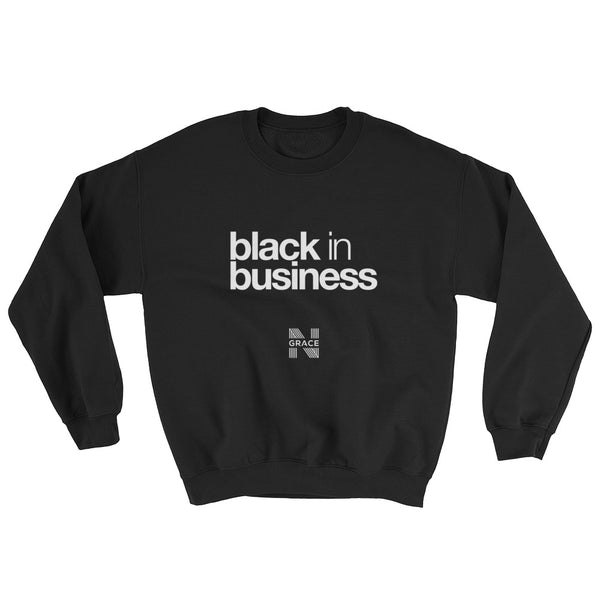 black in business crewneck
