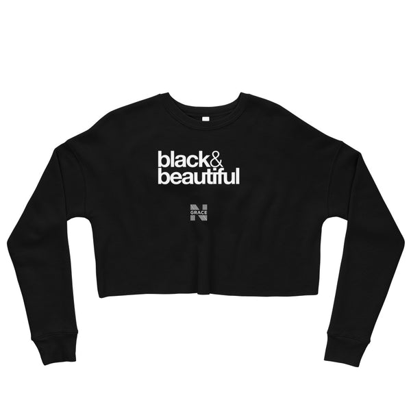 black & beautiful Crop Crewneck