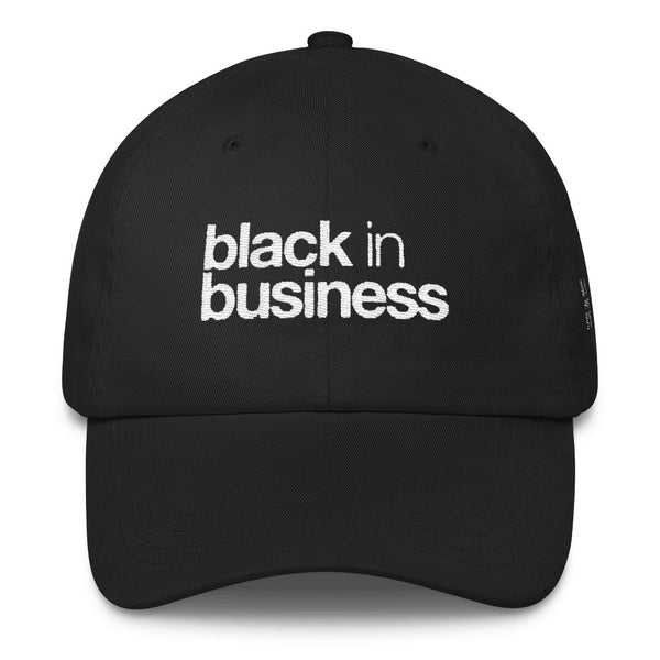 Black & Business Dad Cap