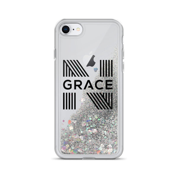 Noir Grace Signature Logo Liquid Glitter Phone Case