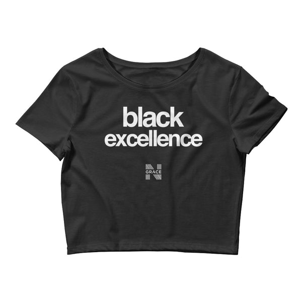 black excellence crop top