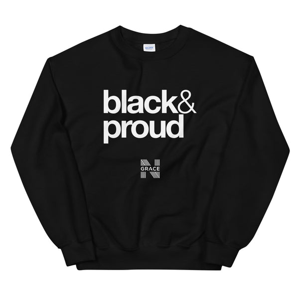 black & proud Crewneck