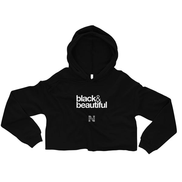 black & beautiful Crop Hoodie