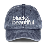 bnlack & beautiful Vintage Cotton Twill Cap