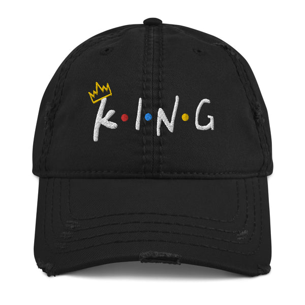 King Distressed Dad Hat