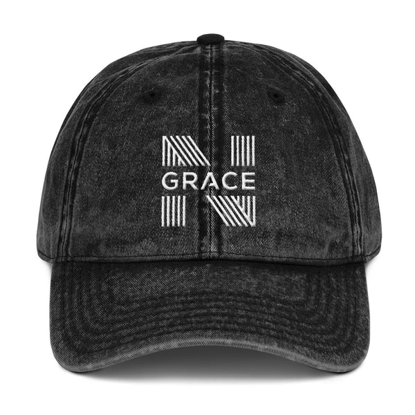 Noir Grace Signature Vintage Cotton Twill Cap