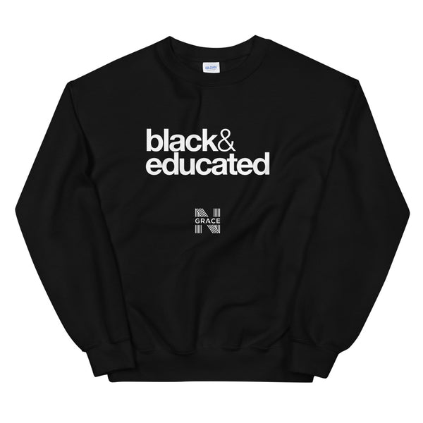black & educated Crewneck