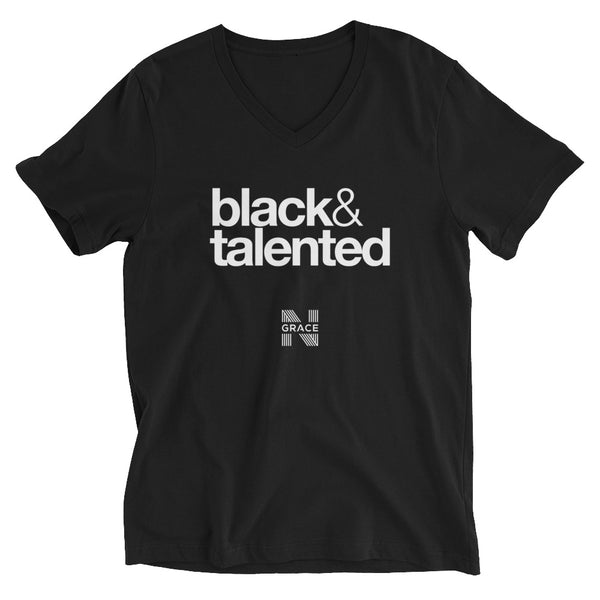 black & talented V-Neck T-Shirt