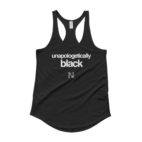 unapologetically black Ladies' Shirttail Tank
