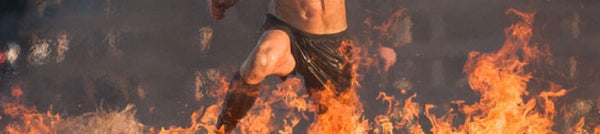 Spartan Race Fire Jump in Hoplite OCR Socks