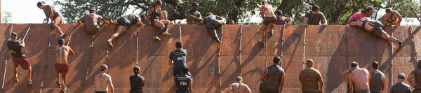 Spartan Race Slip Wall with Hoplite OCR Enhanced COmpression Socks