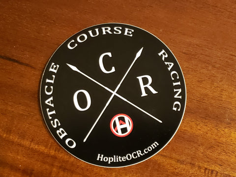 Obstacle Course Racing Crossed Spears Sticker - Accessories - Hoplite-Outfitters - Training, Racing and Recovery Gear