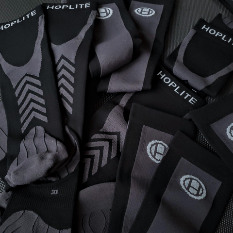 Hoplite Compression Socks: Support and Protection for Lifting, Running & OCR - Stealth Color - Socks - Hoplite-Outfitters - Training, Racing and Recovery Gear