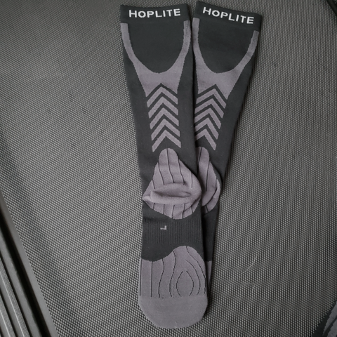 Hoplite Compression Socks: Support and Protection for Lifting, Running & OCR - Stealth Color
