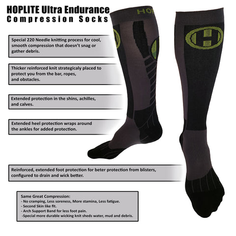Hoplite Ultra Endurance Compression Socks - Socks - Hoplite-Outfitters - Training, Racing and Recovery Gear