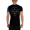 Image of Obstacle Course Racing Tech T-shirt, blue sleeve -  - Hoplite-Outfitters - Training, Racing and Recovery Gear