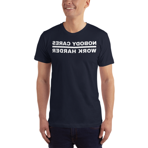 Nobody Cares Short-Sleeve T-Shirt, Bkwrds, Dark -  - Hoplite-Outfitters - Training, Racing and Recovery Gear