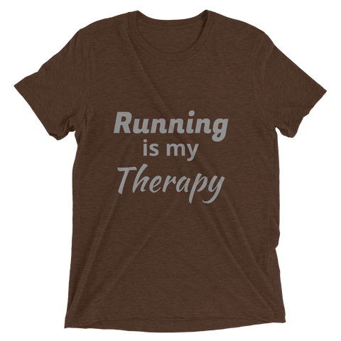 Running is my Therapy T-Shirt d -  - Hoplite-Outfitters - Training, Racing and Recovery Gear