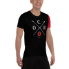 Image of Obstacle Course Racing Tech Shirt, Red Sleeve -  - Hoplite-Outfitters - Training, Racing and Recovery Gear