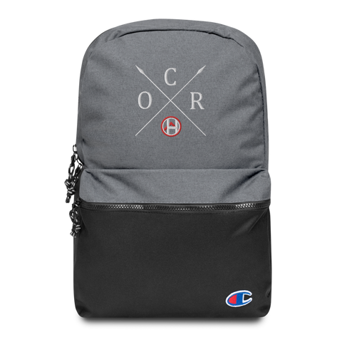 Obstacle Course Racing Crossed Spears Champion Backpack