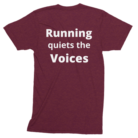 Running Quiets the Voices Track Shirt -  - Hoplite-Outfitters - Training, Racing and Recovery Gear