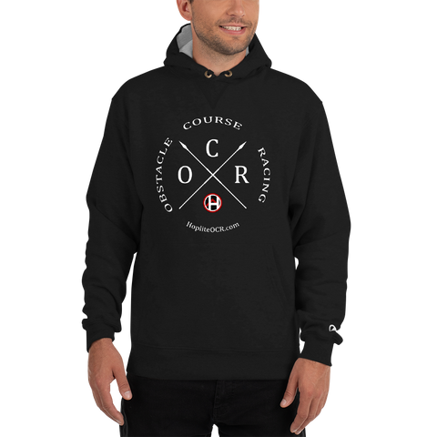 Obstacle Course Racing Crossed Spears - Champion Hoodie -  - Hoplite-Outfitters - Training, Racing and Recovery Gear