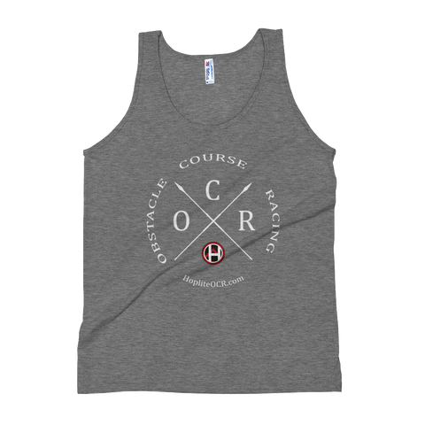 Obstacle Course Racing Crossed Spears Unisex Tank Top