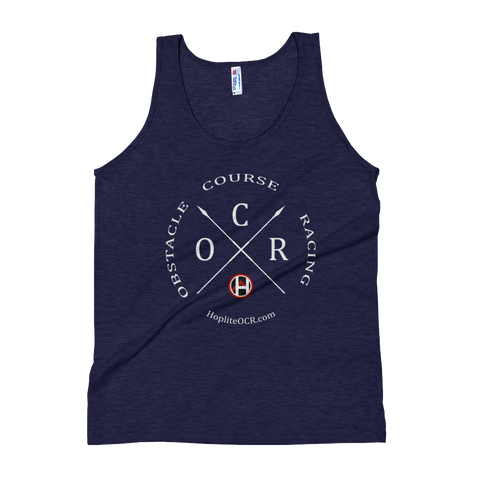 Obstacle Course Racing Crossed Spears Unisex Tank Top -  - Hoplite-Outfitters - Training, Racing and Recovery Gear
