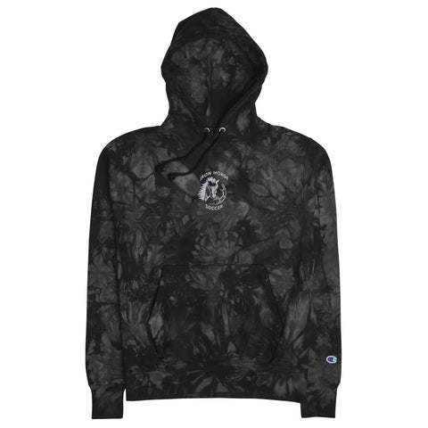 Iron Horse Unisex Champion tie-dye hoodie embroidered