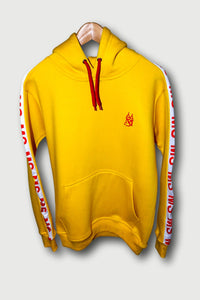 MS Yellow Cotton Fleece Tracksuit