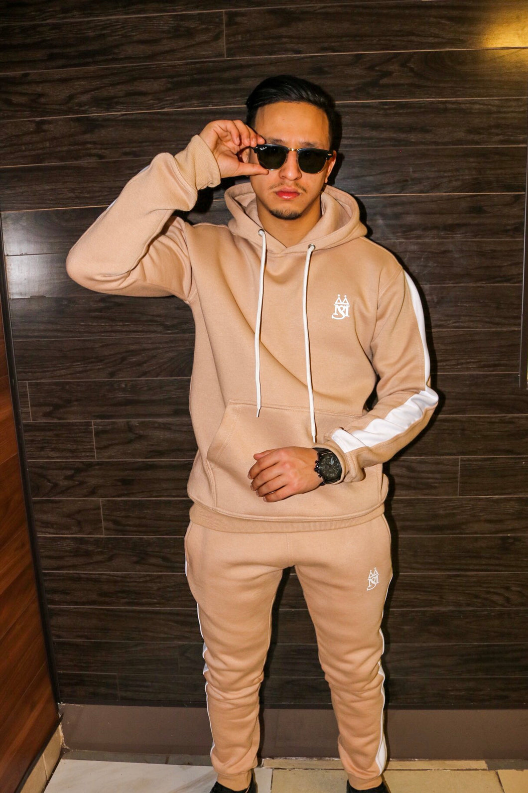 MS ™ Beige Wave Tracksuit (French Terry)