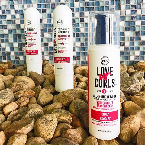 LUS love ur curls 3-step system for naturally curly hair