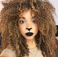 curly hair lioness costume halloween