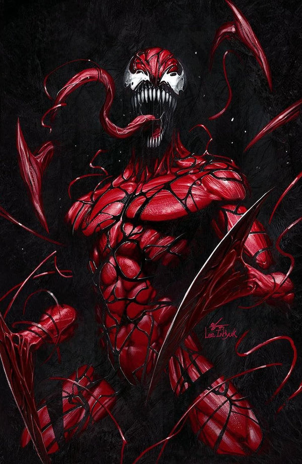 CARNAGE BLACK WHITE AND BLOOD 1 INHYUK LEE VIRGIN VARIANT