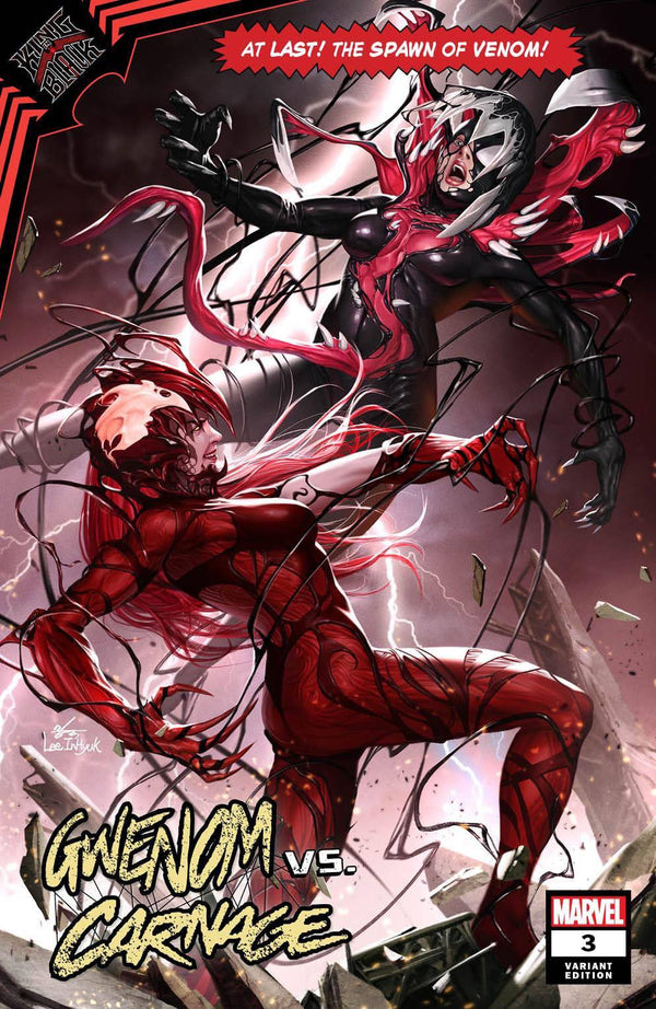 GWENOM VS CARNAGE 3 INHYUK LEE ASM 361 HOMAGE VARIANT