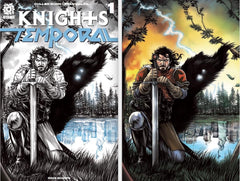 KNIGHTS TEMPORAL #1  MIKE ROOTH TRADE AND COLOR VIRGIN SET