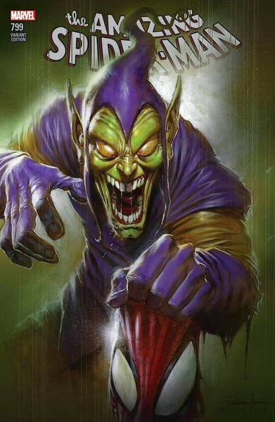 AMAZING SPIDER-MAN 799 LUCIO PARRILLO GREEN GOBLIN VARIANT