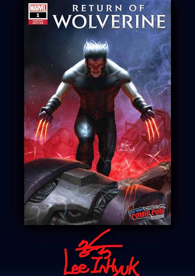 RETURN OF WOLVERINE 1 IN-HYUK LEE NYCC VARIANT OPPORTUNITY! - The Comic Mint