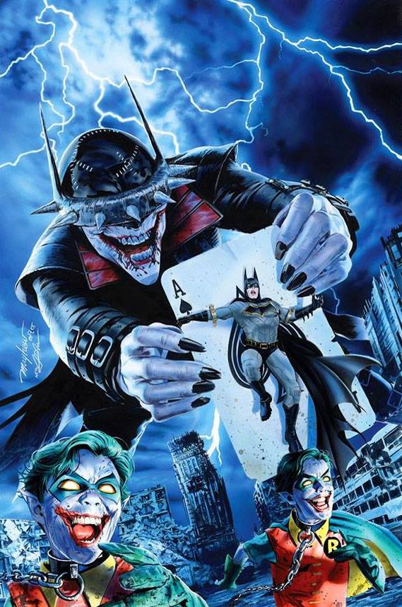 BATMAN WHO LAUGHS 1 MIKE MAYHEW VIRGIN VARIANT - The Comic Mint