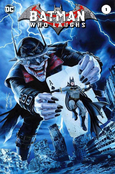 BATMAN WHO LAUGHS 1 MIKE MAYHEW TRADE DRESS AND VIRGIN VERSIONS - TCMI