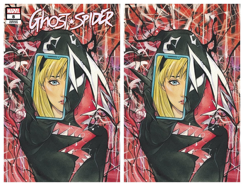 GHOST SPIDER 8 PEACH MOMOKO GWENOM RETURNS VARIANT - The Comic Mint