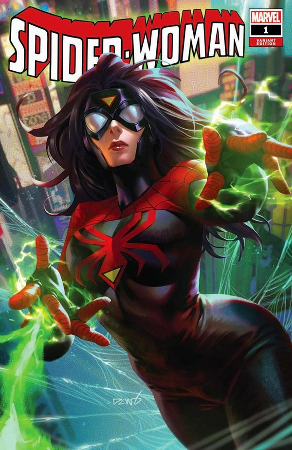 SPIDER-WOMAN 1 DERRICK CHEW VARIANT OPTIONS - The Comic Mint