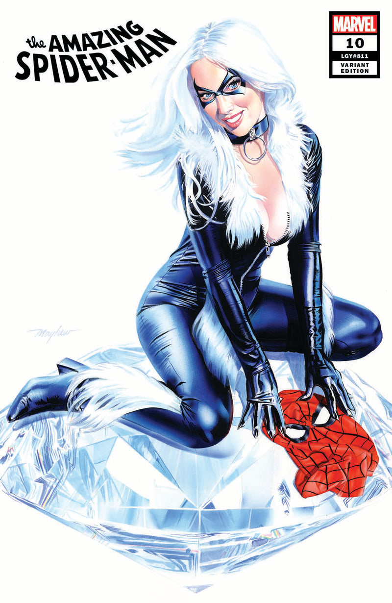 AMAZING SPIDER-MAN 10 MIKE MAYHEW BLACK CAT VARIANT - The Comic Mint