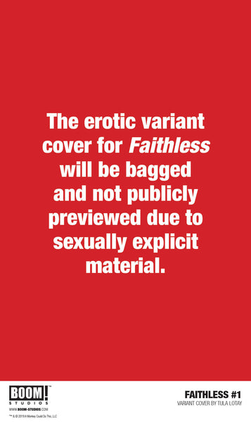 FAITHLESS #1 2ND PRINT EROTIC COVER AND FAITHLESS 2 FIRST PRINT EROTIC COVER 10 PACK FOR 30% OFF